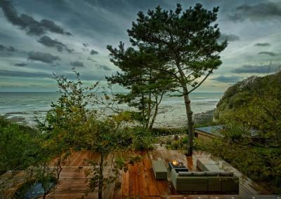 clifftop garden